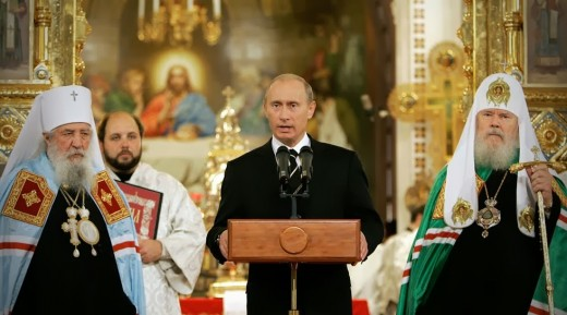Putin declaring Christian faith