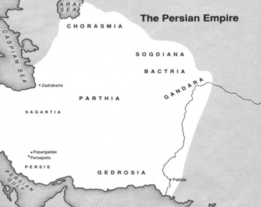 Figure 1: Map of the Persian Empire (Elwell, 1988)