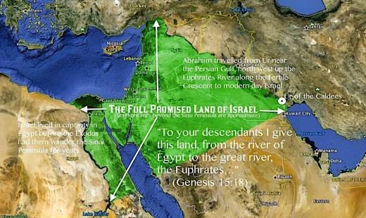 The Full Promised Land of Israel