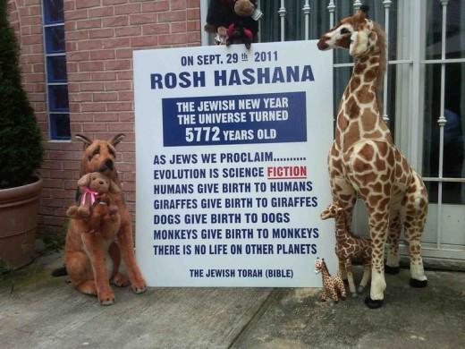 Rosh Hashana evolution sign