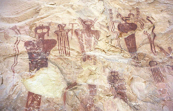 Cave drawings of odd beings