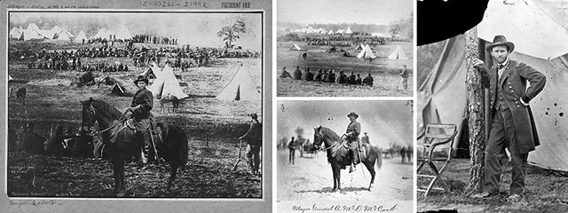 Composit of General Ulysses S Grant with other photographs