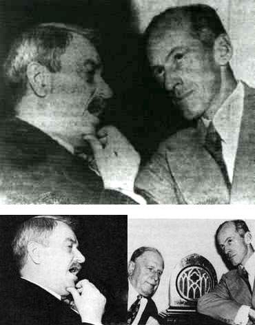 Fake photo of Senator Millard Tydings and Earl Browder