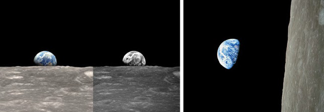 Photo of earth rise