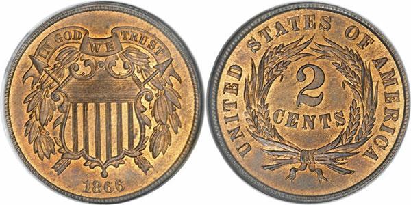 U.S. 2 cent piece