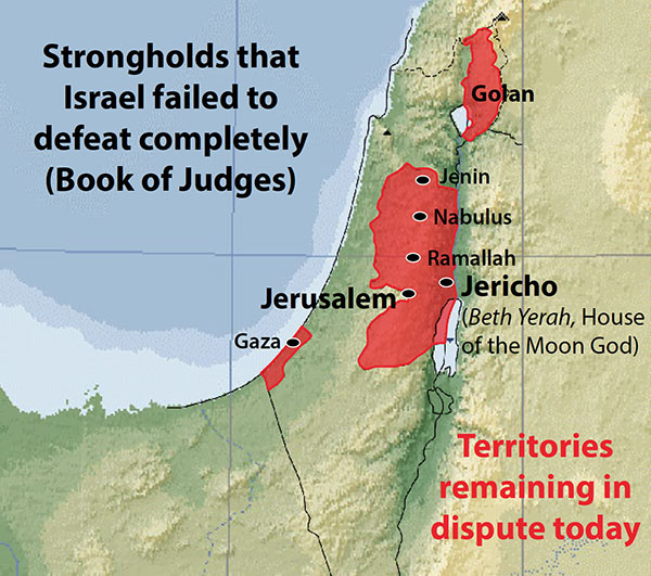 Strongholds that Israel failed to defeat completely