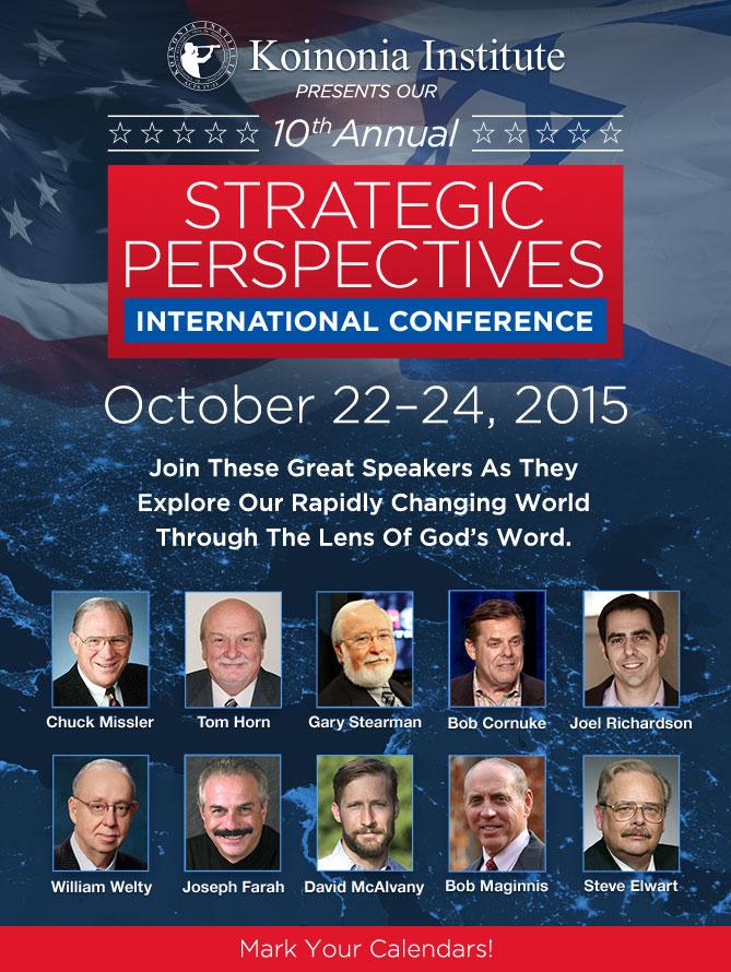 Strategic Perspecitves Conference � October 22�24, 2015